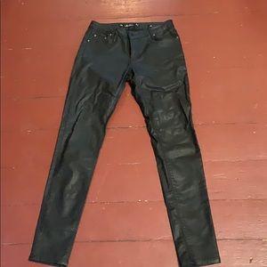 Zara faux leather black jean leggings